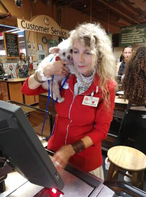 Sherri Lynn cashier with Toni